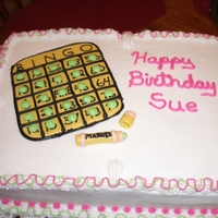 Bingo Birthday Cake Yellow cake,buttercream and fondant