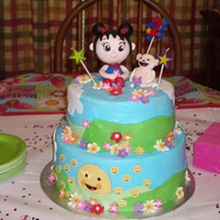 Ni Hao Kai-Lan Ni Hao Kai-Lan cake for my grand-daugther 2nd birthday. Iced in butter cream with fondant details.