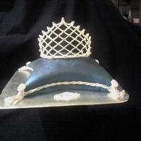 Queen - Tiara On Pillow My first pillow cake. I made for the 'sweetheart table' for bride and groom. Nicknames - Queen and Turtle - I made small 10&quot...