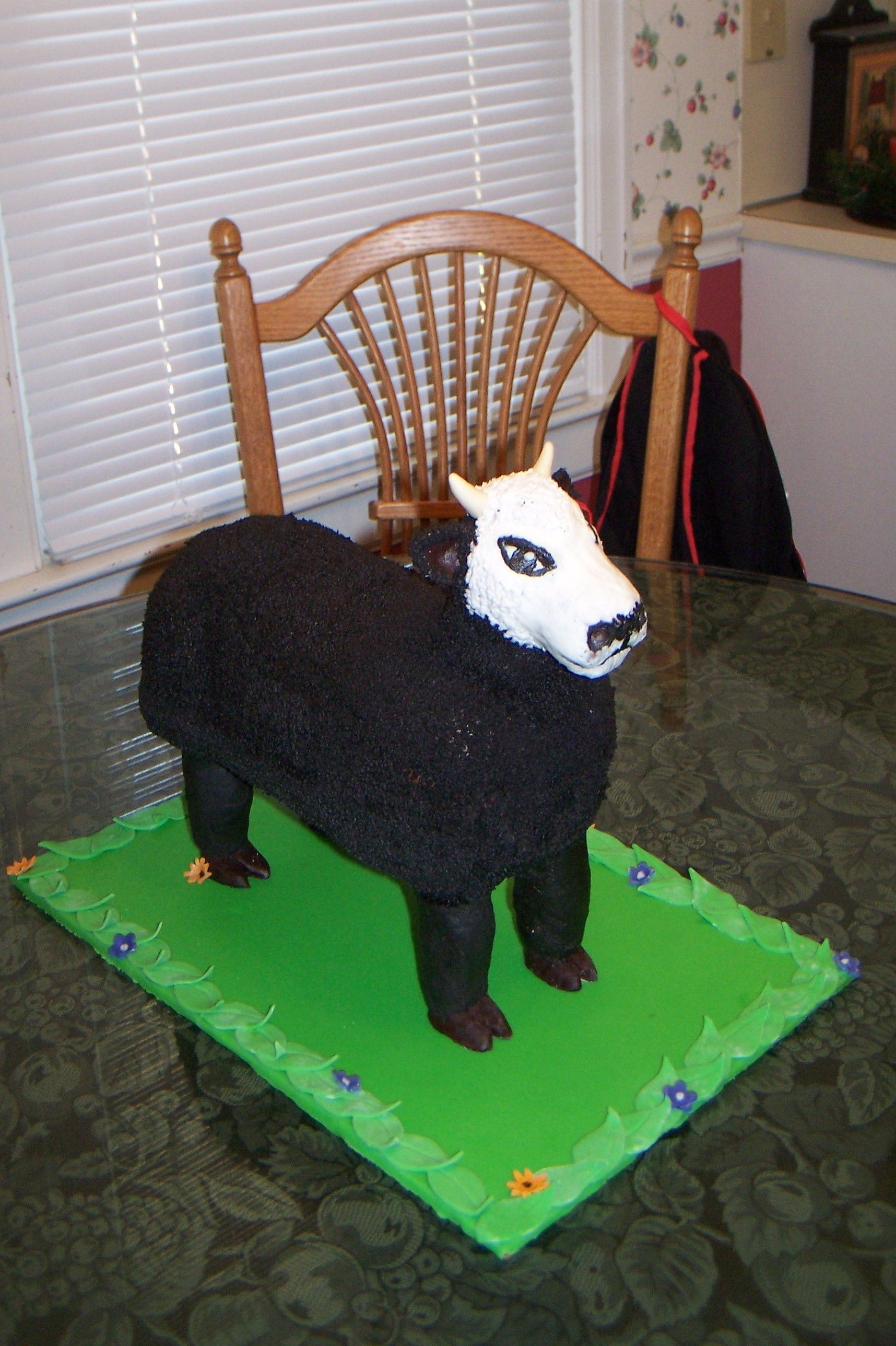 Cow Cake Cow cake for boy turning 5. He has a bull named 102 that he wanted his cake to look like. This is what I came up with!