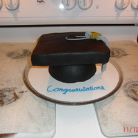 Graduation Cap And Tassel Client wanted a small center piece cake for a graduation party