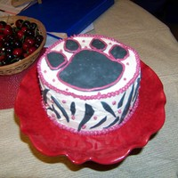 Bulldog Paw Print This was a practice cake. I was trying out a new recipe, coloring mixing, and working with gum paste. We are bulldogs here at our school,...