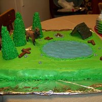 Outdoors Cake This cake was made for a pastor appreciation reception. The pastor is a big outdoorsman. Fun cake to make!