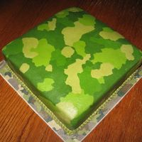 Camo Grooms Cake Chocolate cake with bc icing