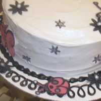 Emo Girl Cake I am much more of a baker than I am a decorator. This was my first time doing choc transfers. Red Velvet cake with, of course, cream cheese...