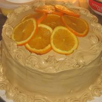 Orange Caramel Cake For My Family Orange caramel cake with orange and caramel cream cheese icing.