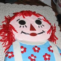 Raggedy Ann Raggedy Ann cake that I did for my Mother in law