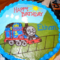 Thomas The Train Tried to do a BCFT for this cake but it didn't work out for me so I ended up piping Thomas right on the cake since it was time to...