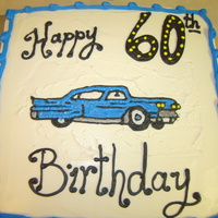 Happy 60Th Uncle! My uncle loves his blue caddy that he received a couple years ago so I piped one on his cake. Lemon cake with wildberry filling.