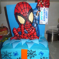 Spidey Surprise! My cousin's son is just completely obsessed with Spider-man! I brought this cake out for him and he was speechless!