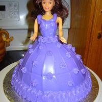 Barbie Our friend's daughter was turning 20 & really wanted a Barbie cake done all in purple! I filled the cake and you can see why it&#...