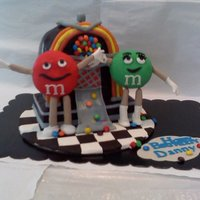 M&m Birthday Cake Made for nephew who loves M&M's!