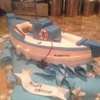 Greek Fishing Boat my dads 65th birthday cake