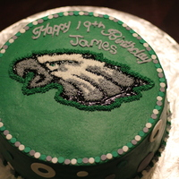 Eagle's Cake  Made this for my coworkers son's 19th Birthday. I personally hate the eagles ;) but liked doing this cake because I had never done an...