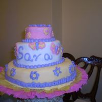 Little Girl B-Day Cake I am just starting on this, this was my first professional cake.