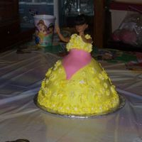 My Daughter's 9Th Birthday This is one of two cakes I made for my daughter's 9th Birthday cake is raspberry with buttercream frosting and fondant apron