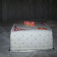 Bithday Cake For Assistant Teacher I made this cake fro my assistant teacher this is my first satin ice covered cake