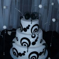 Black And White Wedding Cake This was only my 2nd wedding cake ever! I've been doing cakes about a year now and think I've found my calling...lo. White cake...