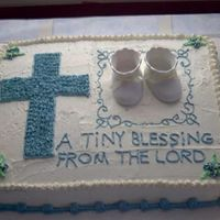 Baby Shower Cake This is a cake I did for a baby shower. I just started doing cakes and haven't take any classes yet, still learning...
