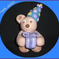 A Present For You!!!! I made this Teddy out of 50/50 fondant and gumpaste. He's only about 3""