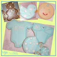 It's A Boy! Cookies My first time really making cookies and I had so much fun!!! These are sugar cookies with royal icing that were individually wrapped in a...