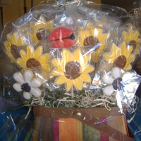 Sunflower Cookie Bouquet NFSC and RI thx to Letsbakecookies for the great demos