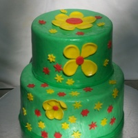 Flowers just a basic flower cake