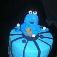 Cookie Monster I didn't like this cake at all. I definitely realized that I need much more practice with sculpting figures..cookie monster is rkt