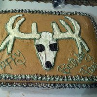 Deer Skull 1st time Free Handing a cake! Def. not my best work but the client was pleased with it! :)
