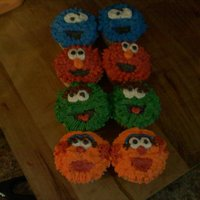 Sesame Street Extra cuppies-so I went with Sesame Street! Had trouble with Zoe but it was a trail run!