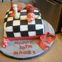 Twilight Birthday Cake I made this cake for a friend of mine as a surprise. She is a Twilight fanatic. My husband did the chess pieces for me, all by hand. All...