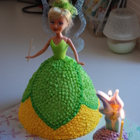Tinkerbell Couldn't get a Tinkerbell doll at the time that I did this cake so had to improvise.