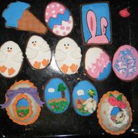Easter Cookies. Got idea for these from donkeemom.