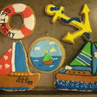 Sailing Cookies. Inspired by clipart and some users on cc's cookies. Sorry I don't remember who.
