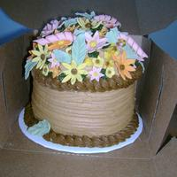 Happy Birthday Sandra I made this cake for our mail lady - she is the greatest! It is a lemon cake - 6' rounds topped with 1/2 the sports ball. The filling...