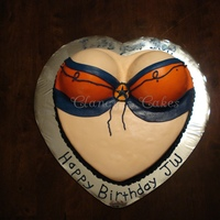 Broncos Cheerleader Torso Made for a male Broncos fan's birthday. Mostly fondant with some buttercream details.