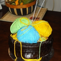 Knitting Basket Basket is WASC with Dark Chocolate Fondant, Yarn Balls are Key Lime cake balls. TFL!