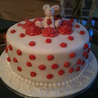 Happy Birthday On Good Friday Hiya..my first Easter cake with a cute bunny and moulded roses. Vanilla sponge with Grand Marnier Cream Cheese filling with raspberry and...