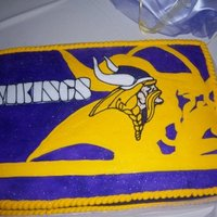 Minnesota Vikings Decorations are all buttercream