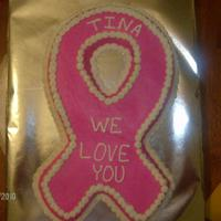 Pink Breast Cancer Cookie Cake