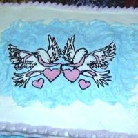 Dove Bridal Shower Cake