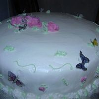 Butteryfly Cake Butterflies are made of rice paper