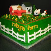 Facebook's Farm Town-Robyn's Farm I'm so happy with how this cake turned out! My client's mom is having her 50th birthday and is said to be obsessed with Farm Town...