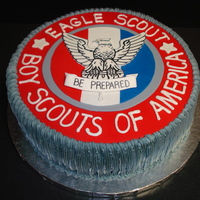Brock's Eagle Scout  My neighbor earned his Eagle Scout and his mom asked me to do the cake for their celebration. I have to thank Mooj for her inspiration! I...