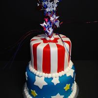 Stars And Stripes  I'm please with the overall look of this cake, but am disappointed in my fondant. If anyone read my rant in the forums about my...
