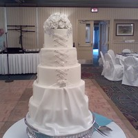 Wedding Dress Replica 5 tier replica of the brides gown it was my first dress cake and lots of work but worth it...