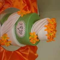 Orange And Green Wedding Cake Wasnt sure if the colors would work but it turned out great.