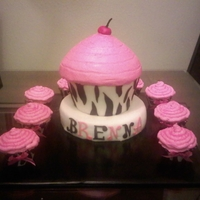 Cupcakes Zebra and hot pink for the little lady turning 1