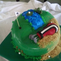Golf Cake This was for my best friends dads birthday!