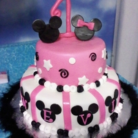 Minnie Mouse Cake This cake was for my best friends cousin she Loved it!!